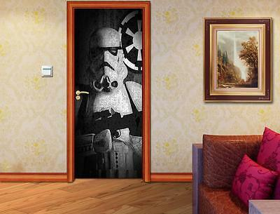 Stormtrooper Star Wars DOOR WRAP Decal Wall Sticker Mural Personalized NAME D126