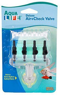 Aquarium Air Valve 4 Way With Check Valve Penn Plax
