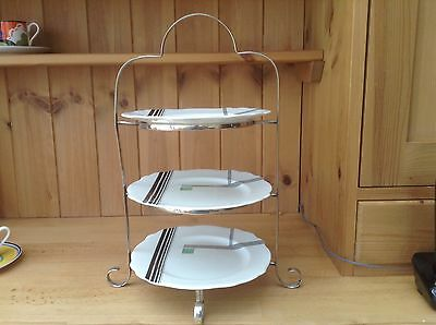 Vintage Silver Plated Three Tier Cake Stand