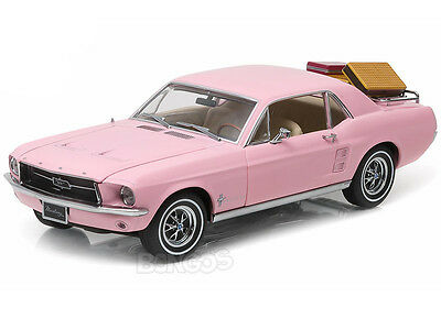 1967 Ford Mustang Coupe w/ Luggage 1:18 Scale Diecast Model (Pink)