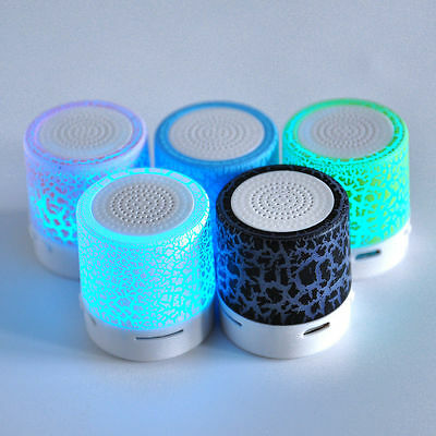 LED Mini Bluetooth Speaker Wireless Stereo TF MP3 Music Player USB Portable UP