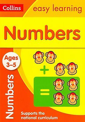 Collins Easy Learning Numbers Ages 3-5 BRAND NEW BOOK (Paperback 2015)
