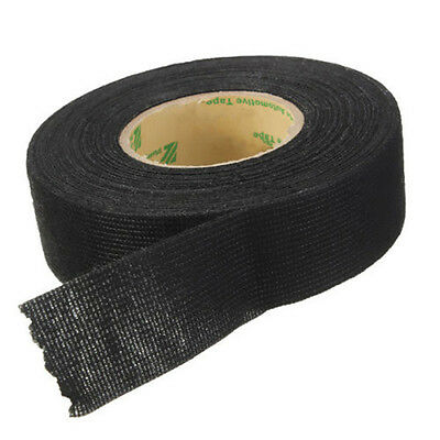 15m x 25mm x 0.3mm Adhesive Cloth Fabric Tape Cable Looms Wiring Harness For Car
