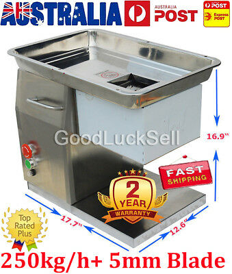 250kg/h 220V Commercial YF-250 Meat Cutting Machine Cutter Slicer+ 5mm Blade AUS