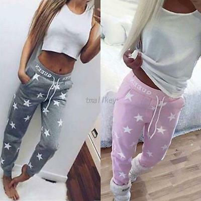 Women Track Pants Trousers Trackies Slacks Sport Workout Gym Stretchy Tracksuit