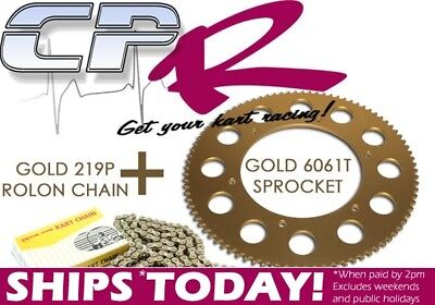 Go Kart Chain AND Sprocket 219 Pitch Your Choice of 65-90T & 98-112 Link CHSPR5C