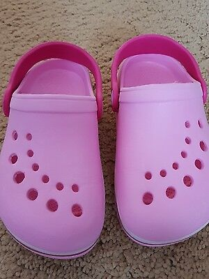Girls George at Asda pink glogs size 8