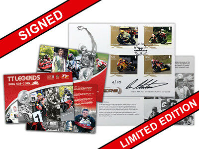 Limited Edition 2017 Ian Hutchinson Signed Stamp Pack With 50p Coin Pack (VI95)