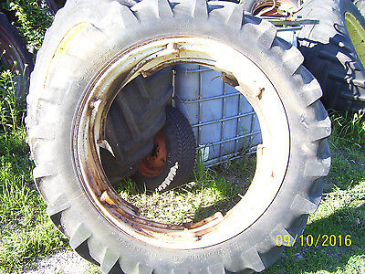 "VINTAGE FORD 6000 COMMANDER TRACTOR -15.5 x 38 "" REAR TIRE &  POWER ADJUST WHEEL"