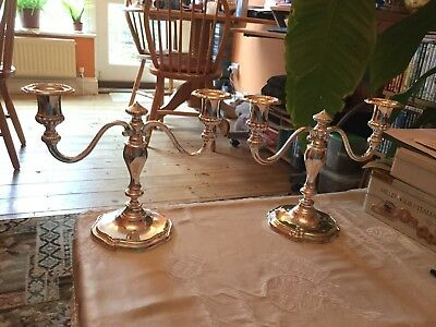 Silver Plated Candle stick holders