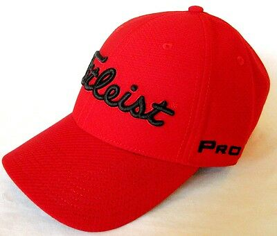 893d221c NEW 2017 TITLEIST Dobby Tech Staff Golf Cap/Hat *RED* M/L TH7FDTSF ...