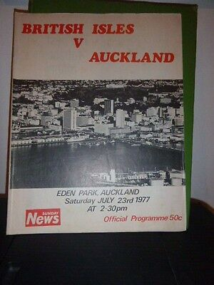 British Lions V Auckland Rugby  Programme  1977