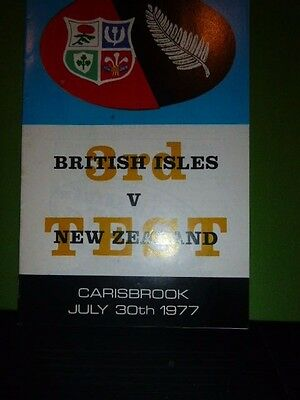 British Lions V New Zealand  Rugby  Programme Third Test 1977