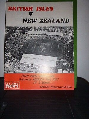 British Lions V New Zealand  Rugby  Programme 4Th Test 1977