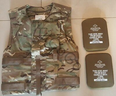 British Army MTP ECBA Combat Body Armour with Kevlar & Plates