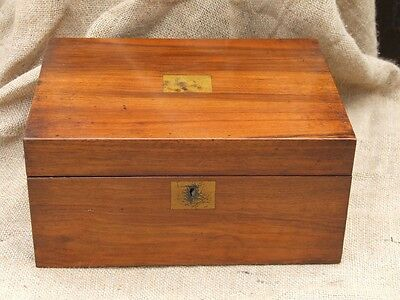 A Victorin walnut writing box, writing slope  in original condition