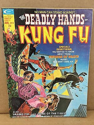 THE DEADLY HANDS OF KUNG FU jan #8 MAGAZINE.good condition (1975)