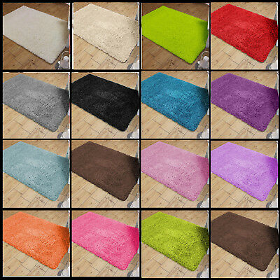 Brand New Small Large Size Thick Plain Soft Shaggy Rugs Non Shed Pile Rugs