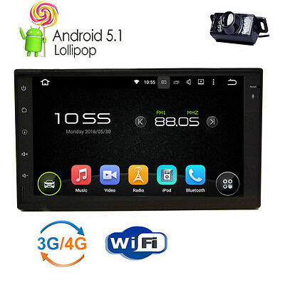 Pure Android 5.1 Car Stereo 2 DIN 4G WIFI GPS no DVD Player Bluetooth Auto Radio