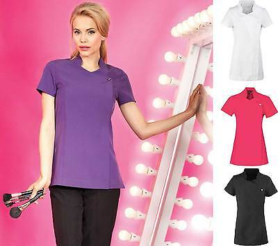 Ladies Women Short Sleeve Spa Tunic Beautician Wellness Hair Saloon Uniform