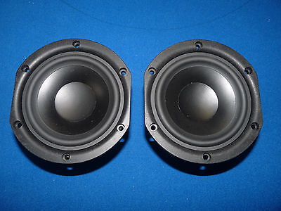 "Japanese Denon 5"" Mid Low Range Woofer. High Quality. One Pair."