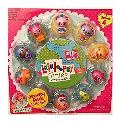 Lalaloopsy Tinies Doll 10 Pack Series 4 Includes Wearable Jewelry Pack NEW