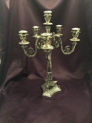 Sterling Silver Candelabra 6 Light