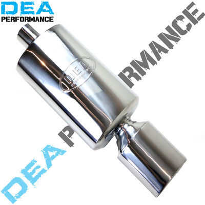 "3"" INCH STAINLESS STEEL REAR MUFFLER 8"" x 5"" OVAL 14"" LONG WITH TIP (WLM10)"