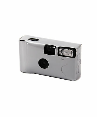 Silver Disposable Cameras with Flash Favour Party Accessory Pack of 5