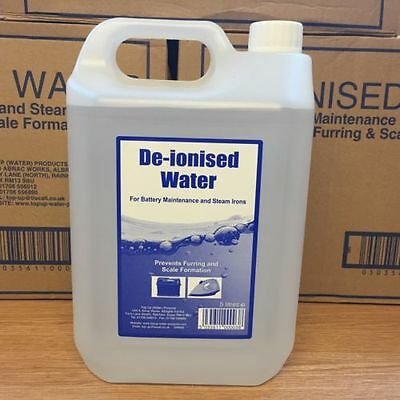 5 Litres Deionised De-ionised Water Top Up 5L for car battery iron