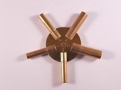 Brass Spider Clock Winding Key Even Sizes 2, 4, 6, 8, 10 UK Seller UK Stock