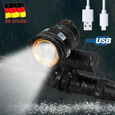 15000LM XM-L T6 Zoomable LED Fahrrad Bike Licht Scheinwerfer Camping Headlight