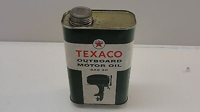 Vintage Texaco Outboard Motor Oil One Quart Can Advertising