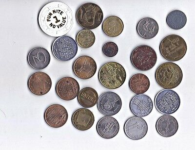 Tokens Mixed Lot & Subjects Plus Foriegn Coins
