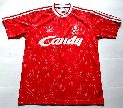 LIVERPOOL 1989 / 1990 CANDY Football Shirt Jersey Maglia 1989/90
