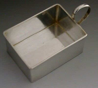RARE FRENCH STERLING SILVER CANTEEN PAN / BILLYCAN CUP MILITARY ANTIQUE  c1900