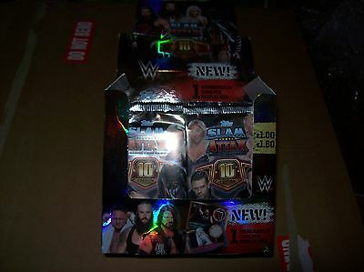 42 x sealed packs of TOPPS WWE Slam Attax 10th edition trading cards
