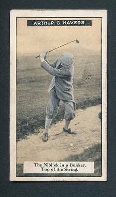 Imperial Tobacco Card 1925  Arthur G. Havers No.18 -How to Play Golf Series /50