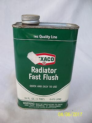 Nice Old Vintage Texaco Radiator Fast Flush 16 Oz Can in Excellent Condition