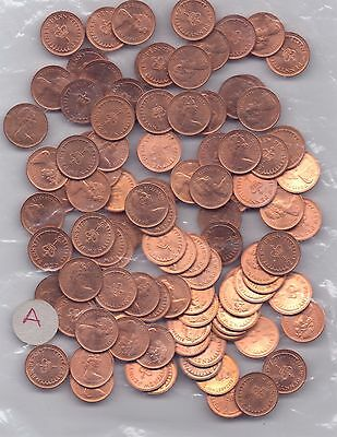 100 COINS DECIMAL HALF-PENNIES (mainly 1971 but mixed dates) All UNC or Near So