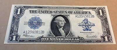 1923 $1 US Silver Certificate Large Bill Note! In stunning condition!