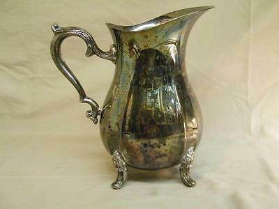 Vintage Oneida Silverplate Footed Water Pitcher with Ice Guard