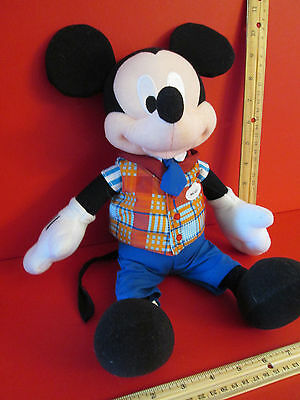 "14"" Mickey Mouse with Name Tag Disney Park worker Staff Plush Stuffed Animal toy"