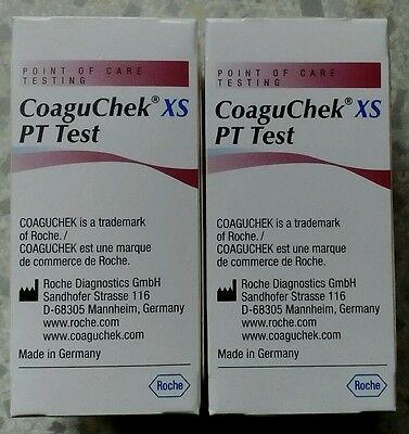 Roche Coaguchek 48 (2x24 packs) XS PT Test Strips Exp 31-10-2018