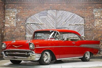 1957 Chevrolet Bel Air/150/210 Bel Air Sport Coupe 450 HP Restomod Red Tan 57 Chevy 383 ci Muncie 4-speed Manual Lowered Frame Off Previous Sam Pack Car