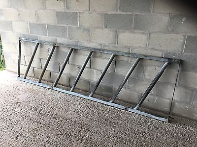 "Galvanized cattle feed barrier 9' 6"" X 33"" good condition"
