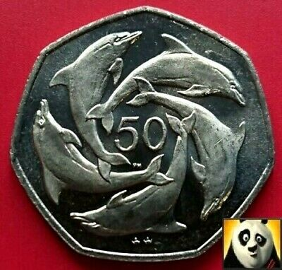 1996 Rare ST HELENA 50p Pence Crown Size Mounted Guardsman Uncirculated Coin