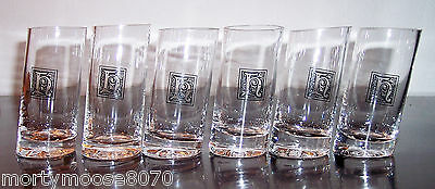 6 Hacienda Tequila Shot Glasses Shooters Hand Blown With Flaws Made In Mexico