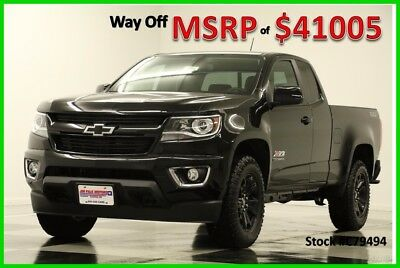 2017 Chevrolet Colorado MSRP$41005 4WD Z71 Midnight GPS Ext 4X4 New Edition Extended Cab Heated Leather Navigation 16 2016 17 Off Road Camera