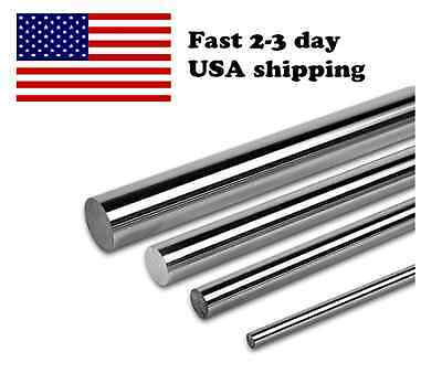 PDTech 20mm dia hardened steel linear bearing rod rail, chrome, custom cut, USA